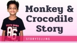 Monkey and Crocodile Story in English in Short